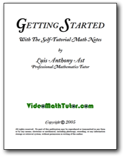 Get Free Math Notes From The Video Math Tutor